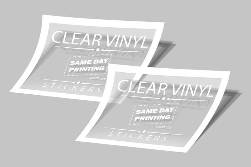 Clear Vinyl Stickers - Same Day Printing Mockup