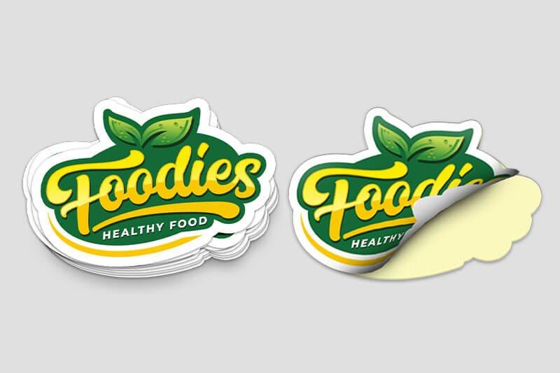 Die-Cut Stickers Health Foodie - Natural - Same Day Printing Custom Stickers v2