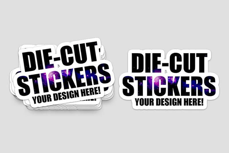 Die-Cut Stickers StarDust Galaxy - Same Day Printing Custom Stickers