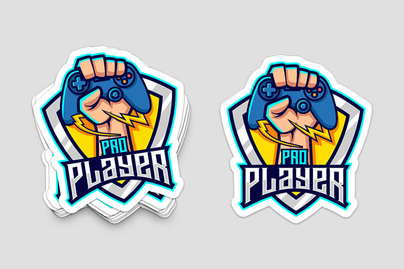 Die-Cut Stickers for Gaming - Same Day Printing Custom Stickers