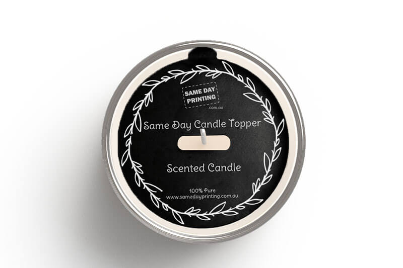 Candle Toppers Black -Same Day Printing