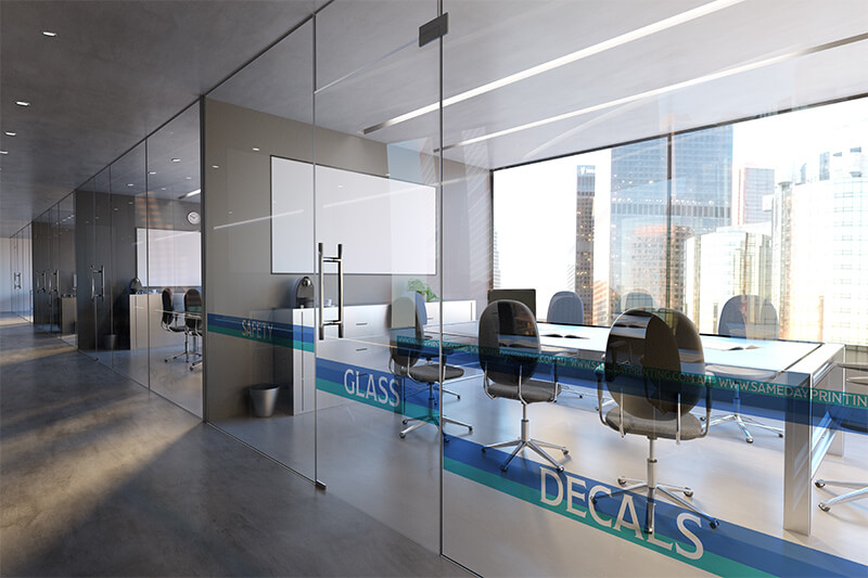 Office Safety Glass Decals - Printing 2