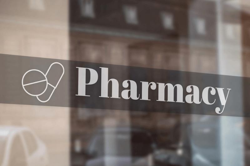 Pharmacy Window Decals Printing