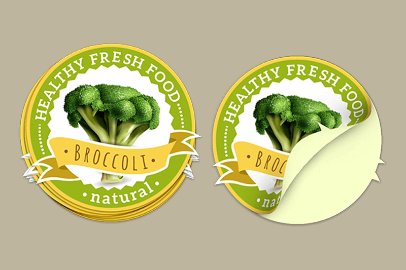 Product Packaging - Stickers - Broccoli labels
