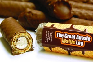 The great Aussie Waffle Log - Chocolate Wrapper