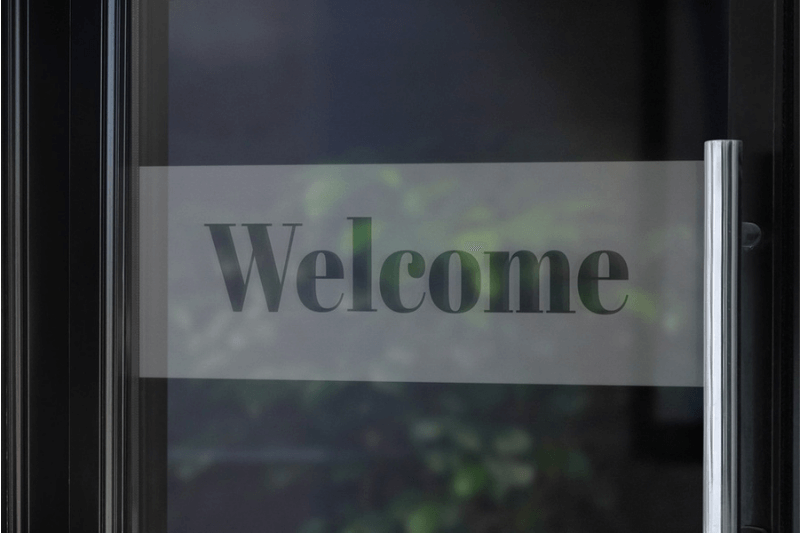 Window Safety Decals - Welcome