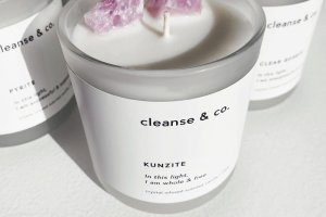Cleanse and co Candle Labels