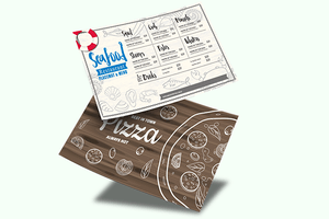 Placemats Printing Seafoods-Pizza - Same Day Printing