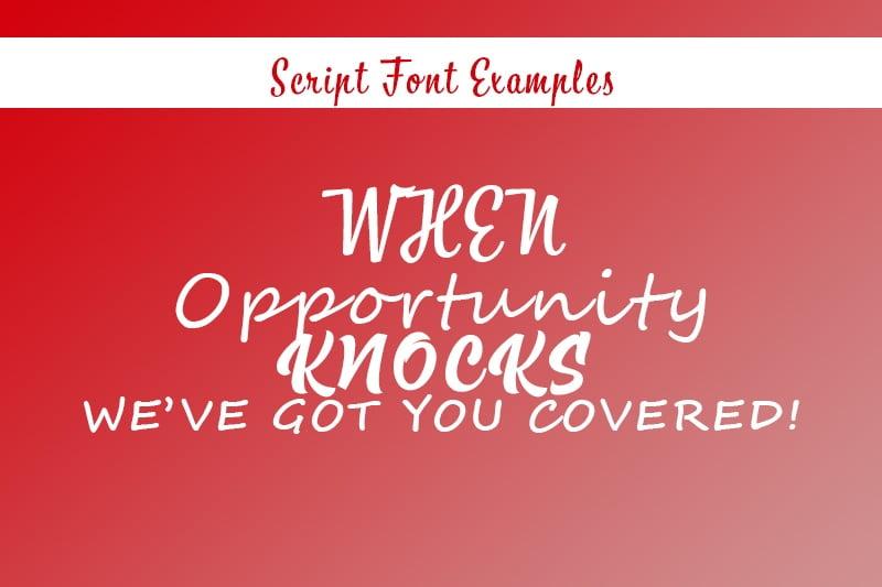 Script-fonts examples - samedayprinting