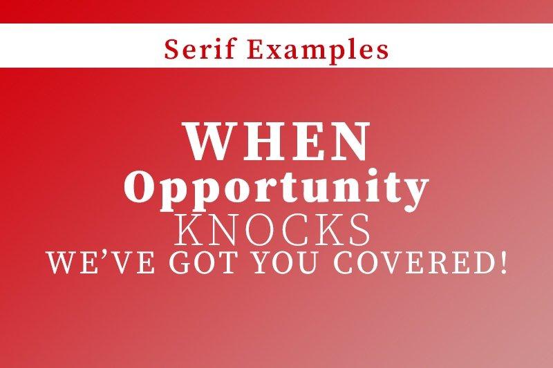 Serif-fonts examples - samedayprinting