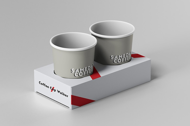 Take Away Coffee Cup Box Trap - Printing