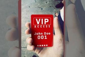 VIP-Pass-Card-Personalise- Same Day Printing