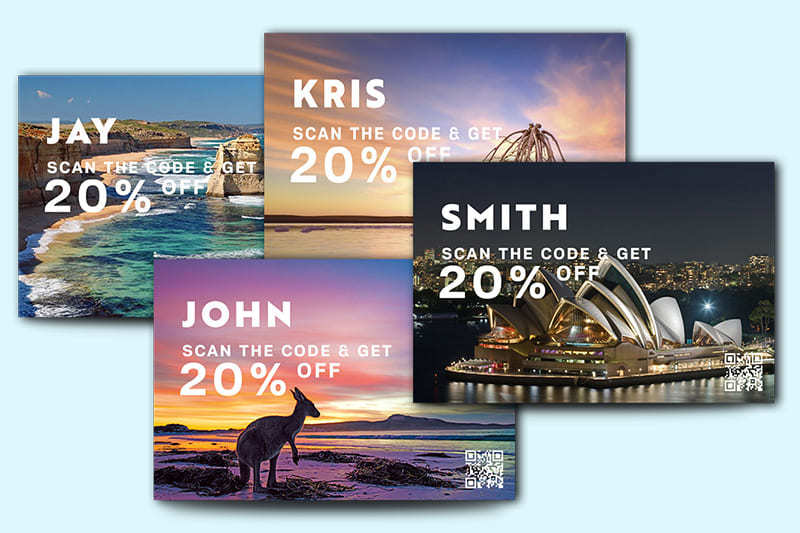 Variable Data Printing - Personalise Postcards